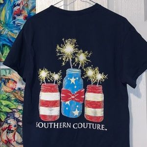 Southern couture tee | July 4th tee